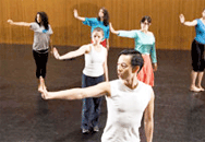 Minh Tran teaching choreography